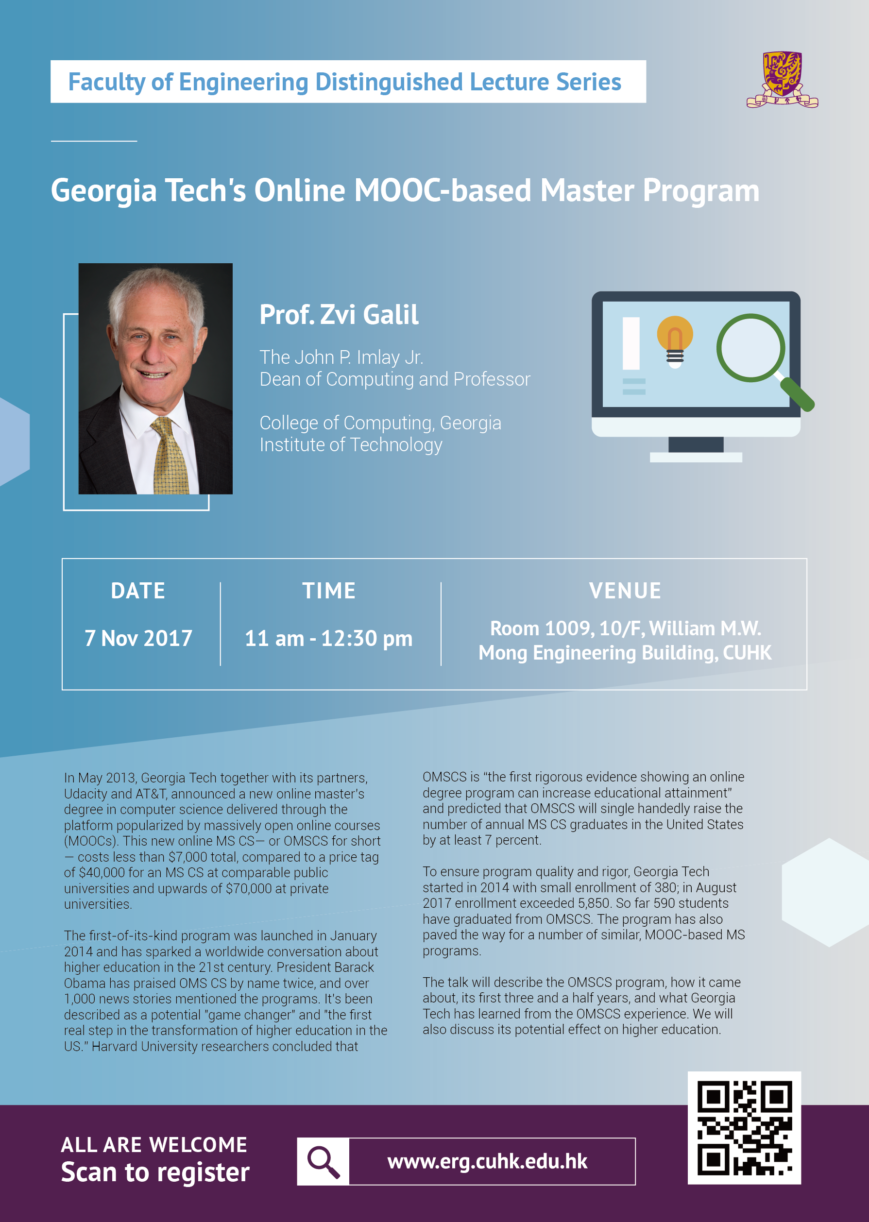 Faculty Distinguished Lecture: Georgia Tech's Online MOOC-based